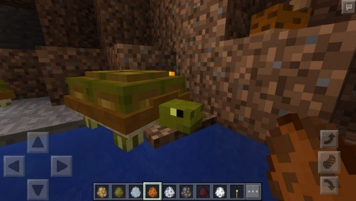 A big turtle in Pocket Edition