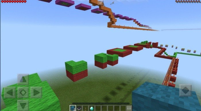 Rainbow Parkour map for Minecraft PE