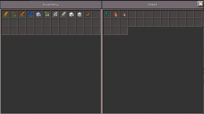 Demonstration of the Ender Chest work in Pocket Edition