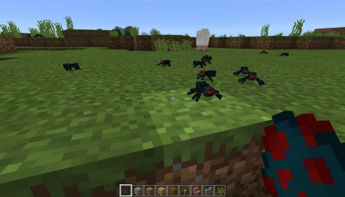 Realistic spiders in Minecraft