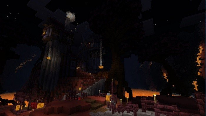 Atmosphere of the map - just like in the Nether World