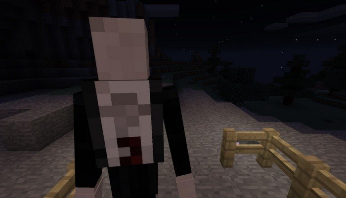 Slenderman in Minecraft PE