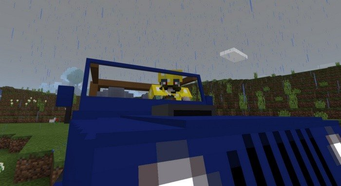 Driving a car in Minecraft PE