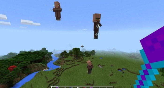 Magic that forces mobs to levitate