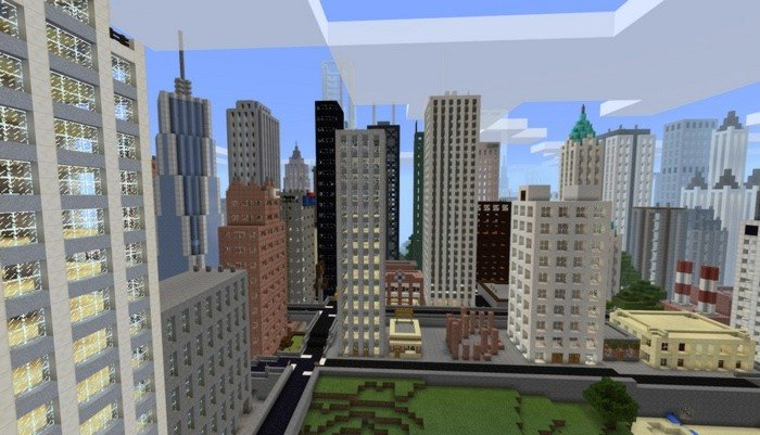 Big city map for Pocket Edition