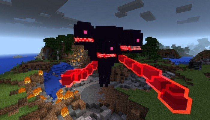 Second stage of the Wither Storm boss