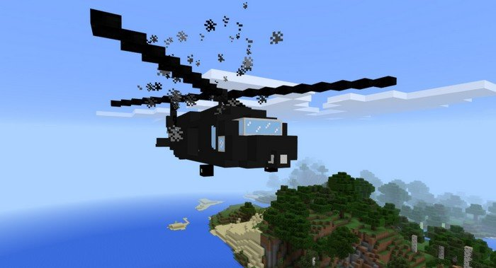 flying vehicle in minecraft - Helicopter Mod