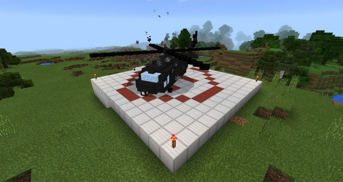 helicopter at the landing site - Helicopter Mod