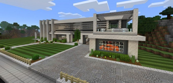 Modern Kitchen Minecraft Pe modern mansion map for minecraft pe 1.0.4