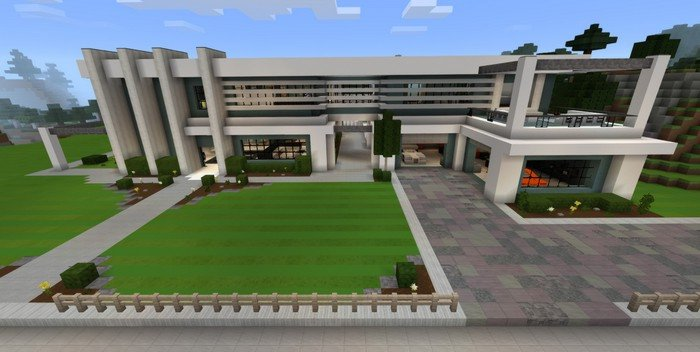 . Modern Mansion map for Minecraft PE 1 2 3