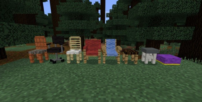 All of 9 chairs that will be added into MCPE