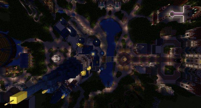 Disneyland Map For Minecraft PE - Disneyland map fur minecraft pe