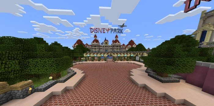 Disneyland map for Minecraft PE 1.2.3 on