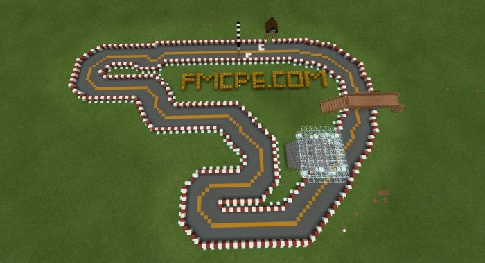 Race Track Map For Minecraft Pe