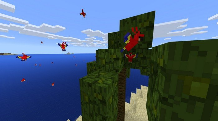 minecraft how to find parrots