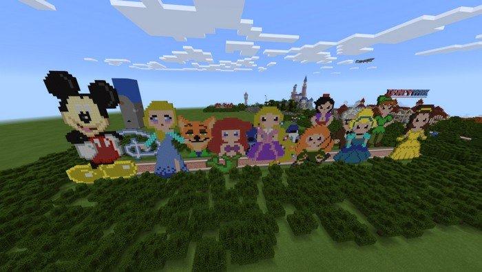 Disney Characters In Pixel Art
