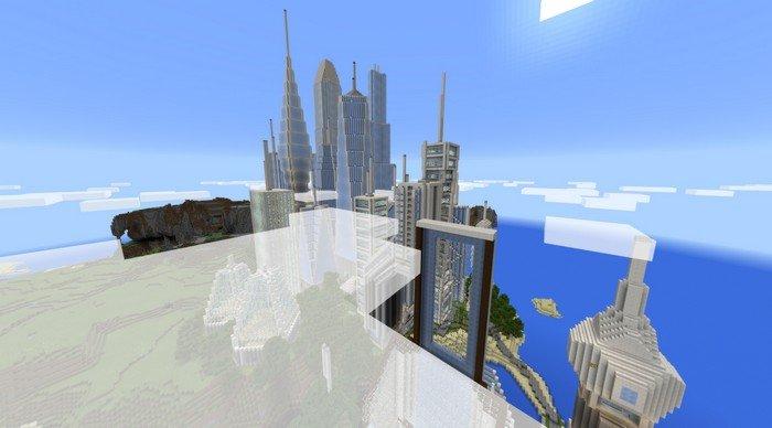 City Of Future Map For Minecraft PE - Maps fur minecraft installieren