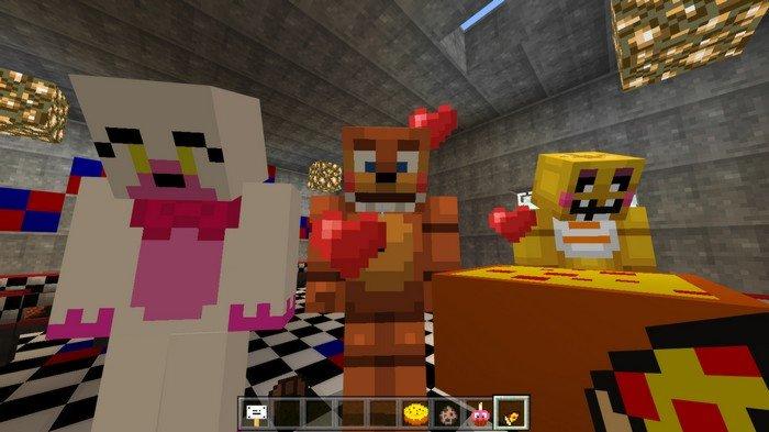 Five Nights At Freddys Addon For Minecraft PE - Foxy skins fur minecraft