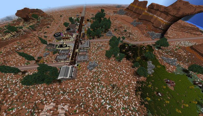 Radiator Springs MCPE map