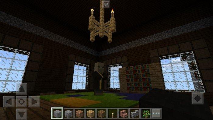 Inside the mansion