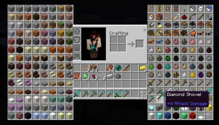 How to have infinite items in mcpe