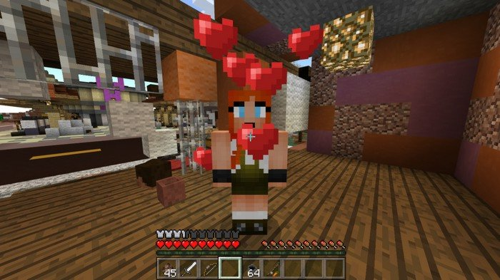 Give a cake to the male and female villager to make them breed