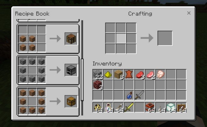 Watch crafting recipes in Minecraft