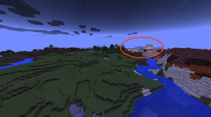 How to find a sand village from spawn