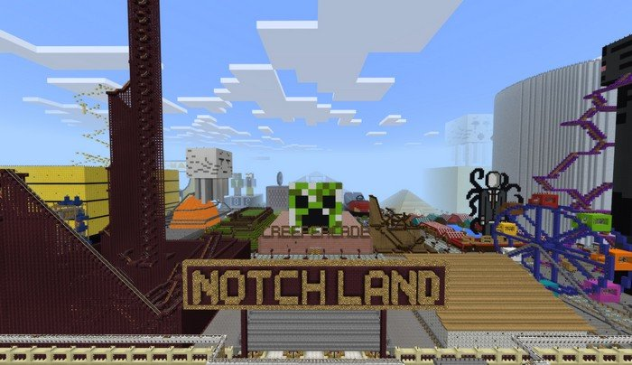 Notch Land Map Notchland map for Minecraft PE 1.1.3 Notch Land Map