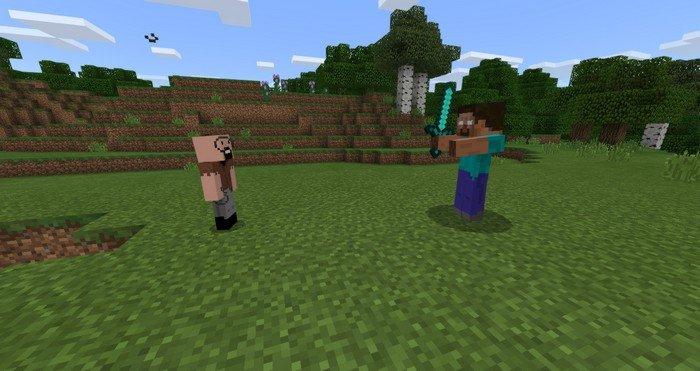 Notch vs Herobrine duel