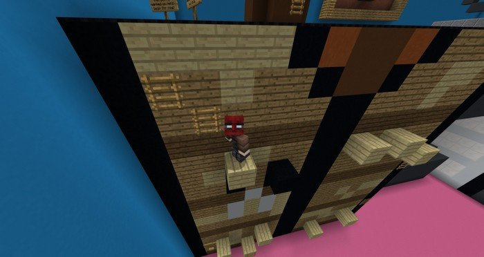 Giant room parkour map for Minecraft PE 1 1 4