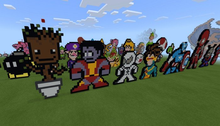 pixel art map for minecraft pe 1 5 2