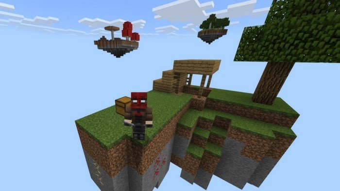 Skyblock islands map for Minecraft PE 1 1 5