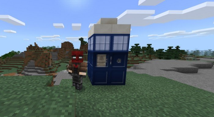 Tardis police box in Minecraft