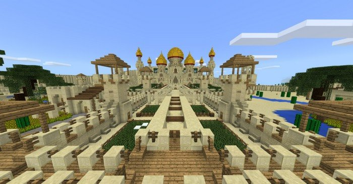 Arabian map for mcpe