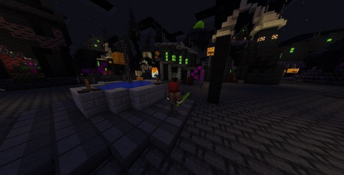 Halloween town map for Minecraft PE 1.2.3