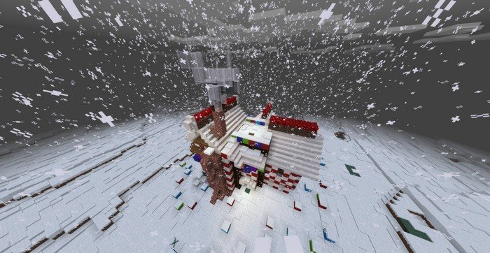 Gingerbread house in Minecraft