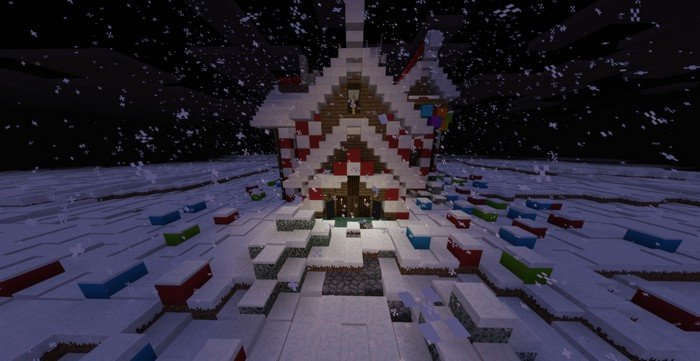 Gingerbread house map for Minecraft PE 1.2.8