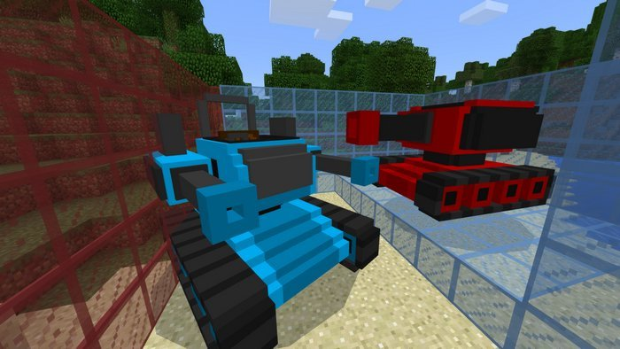 Blue and Red tanks
