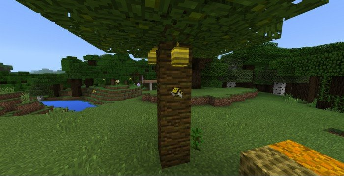 Bee and Honey mod for Minecraft PE 1 2 13