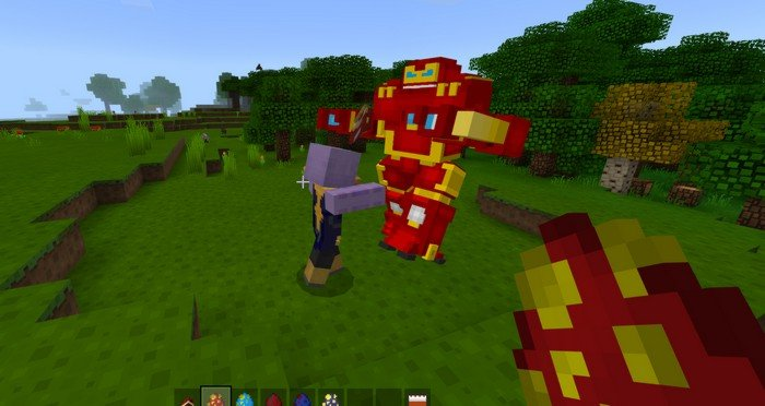 Avengers Infinity War mod for Minecraft PE 1 4 2