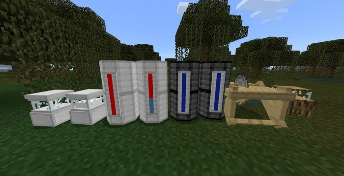 Water, lava, milk and exp tanks
