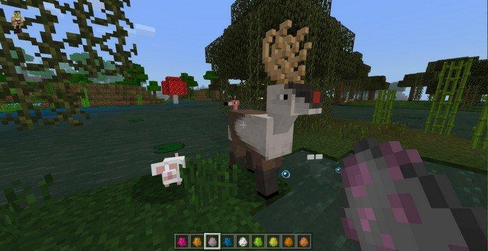 A deer in MCPE