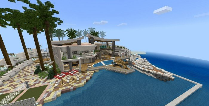 Modern Redstone Mansion map for Minecraft 1 8 1