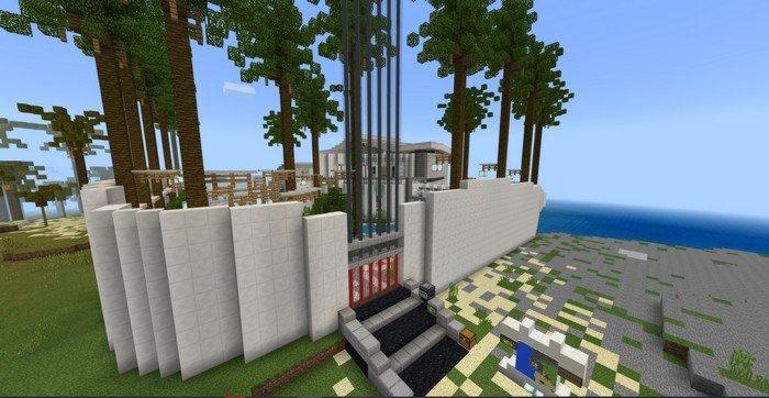 Modern Redstone Mansion map for Minecraft 1.8.1