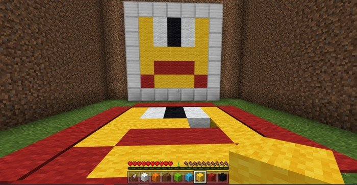 Copy the Painting map for Minecraft PE 1.8.1