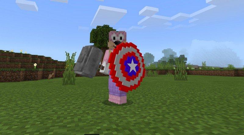 Captain America mod for Minecraft PE 1.11.4