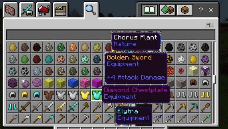 Items Rarity mod for Minecraft PE 1.11.4