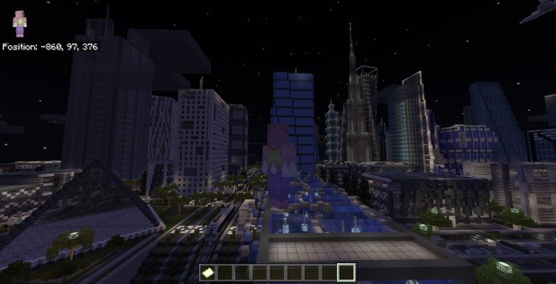 Modern City map for Minecraft PE 1.11.4