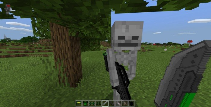 Futuristic Weapons addon for Minecraft PE 1.11.4